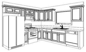 Kitchen Design Drawings Kitchen Design Kitchen Cabinet Layout Plans Interior Design