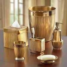 gold bathroom accessories modern interior design inspiration