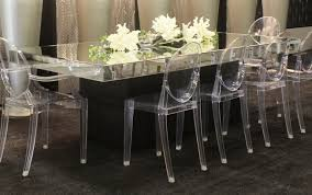 Mirrored Dining Room Furniture Mirrored Top Rectangle Dining Room Set Including Flowers
