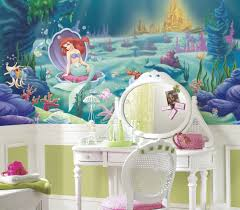 jl1224m the little mermaid xl wallpaper mural 3 2m x 1 8m the jl1224m water activated washable wallpaper wall stickers wall decor wall decals the little mermaid sure