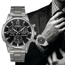 fashion stainless steel bracelet images Fashion men crystal stainless steel analog quartz wrist watch jpg