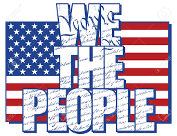 we the people type design filled with the constitution of the