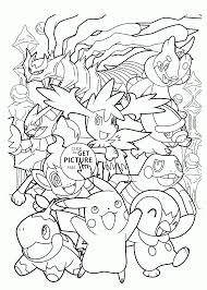 happy pokemon coloring pages for kids pokemon characters