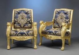 Antique French Armchairs Gilded Antique French Armchairs Stand On Lion Paw Feet