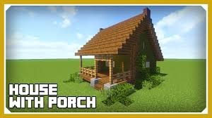 House Porch by Minecraft How To Build A House With A Porch Tutorial Easy