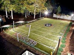 Backyard Football Goal Post O Lucky Football Field In The Backyard Great Dream Would Work