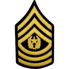 army csm small asu sew on rank female small asu rank military