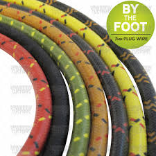 cloth spark plug wire by the foot 7mm assorted colors