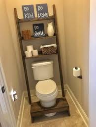 ana white build a leaning bathroom ladder over toilet shelf