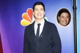 randall park it u0027s a wet reunion ken marino visits fresh off the boat to