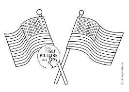 two usa flags coloring pages usa independence day coloring pages
