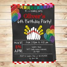 birthday party invitations printable bowling birthday party invitation boy bowling