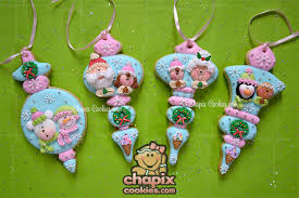 cookie ornaments blue pink cookie connection