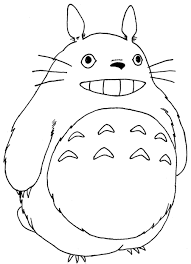 anime coloring pages for kids my neighbor totoro free printable