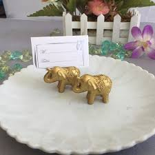 elephant favors 100pcs lucky gold elephant place card holders table name holder