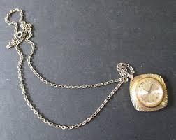 ladies necklace watch images Endura watch etsy jpg