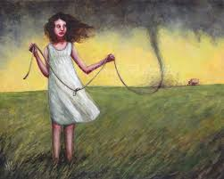 Windart Tie Down The Wind Art Print Stormy Weather Tornado