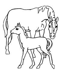 cartoon horses colouring pages 3 clip art library