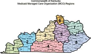 map of ky and surrounding areas service area aetna better health of kentucky