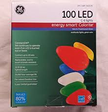 ge led christmas lights amazon com ge energy smart 100 led c 6 holiday christmas lights