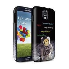 Galaxy Phone Meme - gloss tough phone case for samsung galaxy phone funny shibe doge