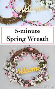 easy 5 minute diy spring wreath anika u0027s diy life