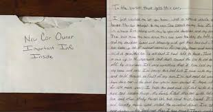 dad buys used car for his daughter and finds a surprising letter