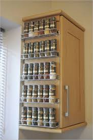 Wooden Spice Cabinet With Doors Wall Mount Spice Rack Images Home Furniture Ideas