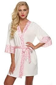 amazon robe de chambre femme ekouaer kimono robe de chambre femme nuit courte taille 32 50