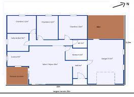 plan 4 chambres plain pied plan maison 4 chambres plain pied sans garage