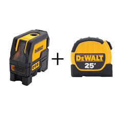 dewalt self leveling cross line and plumb spots laser level with