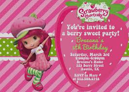 printable birthday invitations strawberry shortcake elegant strawberry shortcake party invitations free printable