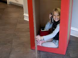 how to make a british phone booth from a cardboard box youtube