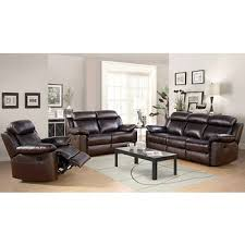 abbyson living braylen 3 pc leather reclining set bj u0027s