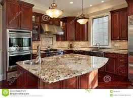 Kitchen Granite by Kitchen With Granite Island Stock Images Image 20848854