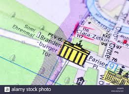 Germany City Map by Cartography City Map Berlin Detail Brandenburg Gate Pariser
