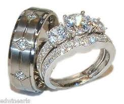 his and hers engagement rings low priced wedding set his hers 3 wedding engagement ring