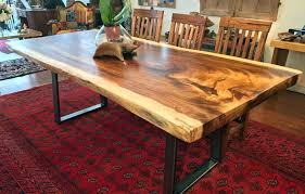 slab dining room table live edge slab table fresh wood dining rustic stylish with 4