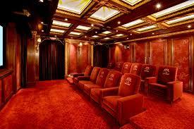 custom home theater dallas tx traditional media room design red