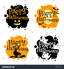 halloween bat clip art halloween logo ghosts bats witchs hat stock vector 327313055