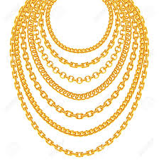 golden fashion necklace images Golden metallic chain necklaces vector set gold fashion luxury jpg