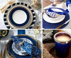 Nautical Themed Dinnerware Sets - sea inspired table setting and ideas for your beach themed party