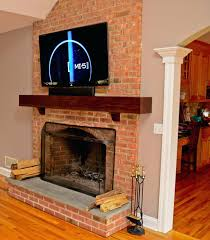 Mounting A Tv Over A Gas Fireplace mounting a tv over fireplace into brick wall mount installation