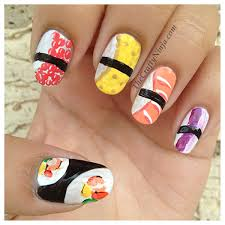 nice sushi roll themed nail art x cute nails by other people