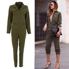 sleeve jumpsuits for jumpsuit bodycon lapel sleeved playsuit