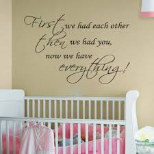 Nursery Decor Wall Stickers We Had Each Other Nursery Room Decal Wall Quote Vinyl