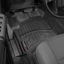 Ford F250 Truck Mats - weathertech 444331 digitalfit 1st row black molded floor liners