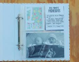 personalized scrapbooks baby scrapbook album etsy