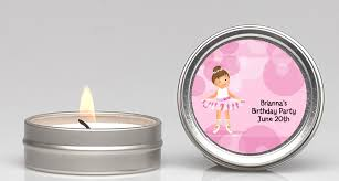 personalized candle favors ballerina candle personalized baby shower favors