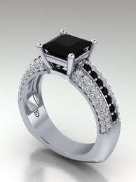 princess cut black engagement rings princess cut black engagement ring black